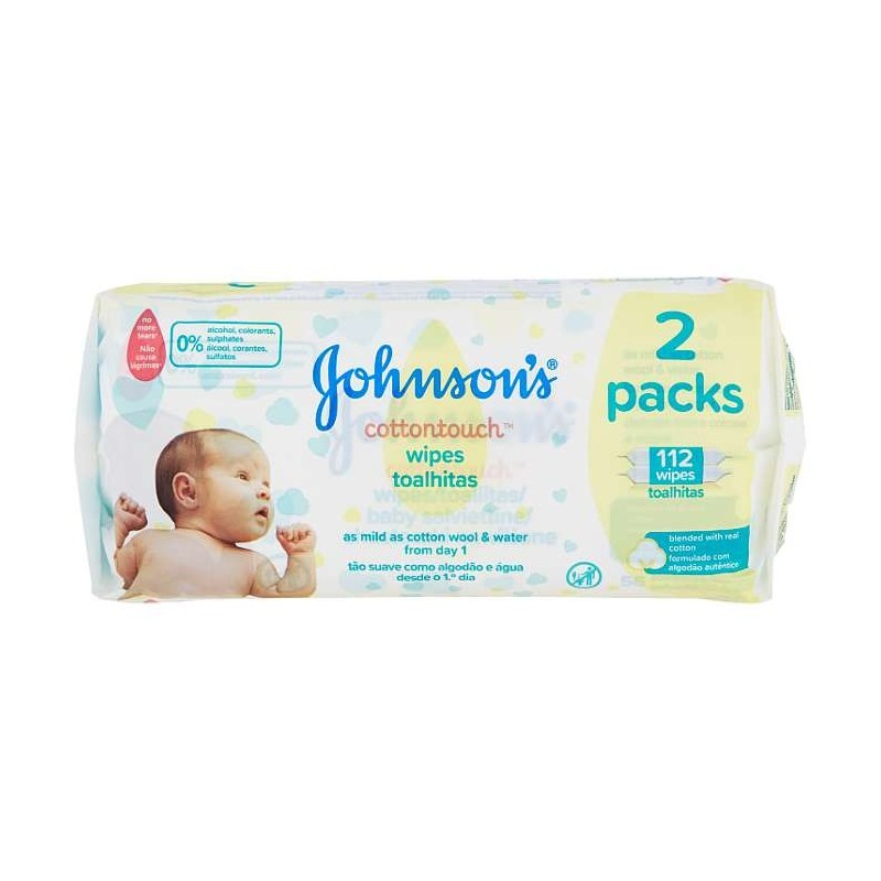 Johnson's cottontouch wipes...